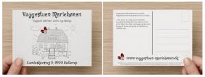 Postkort til Vuggestuen Mariehønen