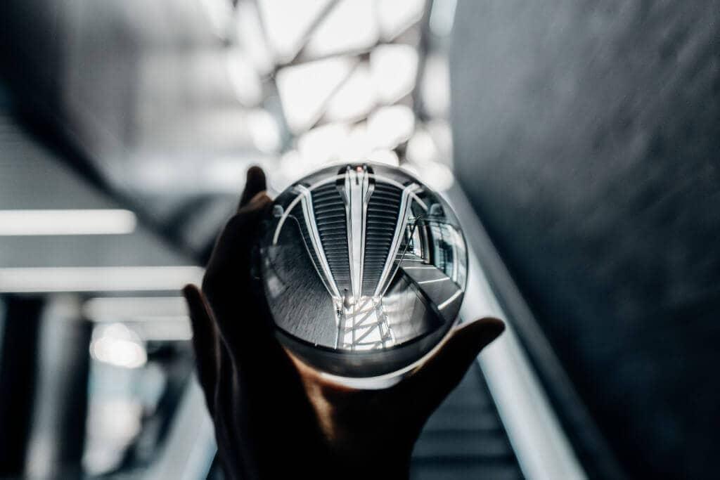 Billede af krystal kugle