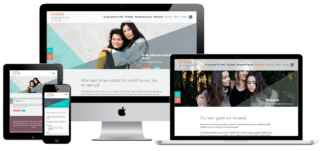 Kvindehjemmet Hjemmeside