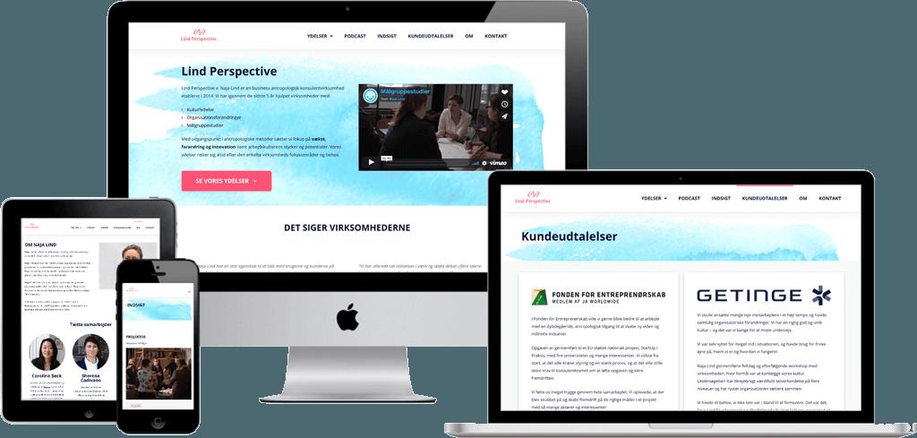 Lind Perspective - Hjemmeside